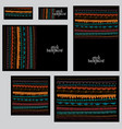 set corporate identity templates in ethnic vector image vector image