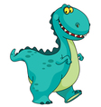 smiling dinosaur vector image vector image