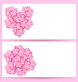 st valentine s day set decorative sakura flowers vector image