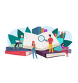 students young people readers sitting lying on vector image vector image