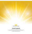 sunlight effect sparkle on yellow background with vector image vector image
