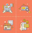 Symbols for online shopping Analytics e-commerce vector image vector image