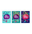 text be mine for valentines day greeting card set vector image