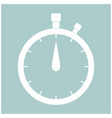 the stopwatch the white color icon vector image vector image