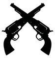 two classic american handguns vector image