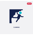 two color climbing icon from free time concept vector image vector image