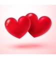 Two Valentine hearts vector image vector image