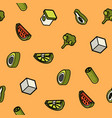 vegan life color outline isometric icons vector image