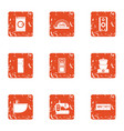wash clothes icons set grunge style vector image vector image