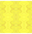 yellow hypnotic abstract seamless striped swirl vector image vector image