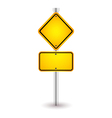 yellow road sign with shadow vector image
