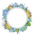 Summer Floral Wreath vector image