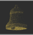 hand drawn stippling bell vector image