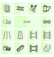 14 strip icons vector image vector image