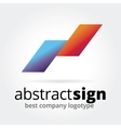 Abstract logotype concept isolated on white vector image vector image