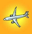 aircraft air transport yellow background vector image vector image