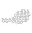 austria map from black pattern from composed vector image vector image
