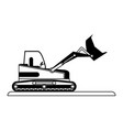 backhoe construction heavy machinery icon image vector image vector image