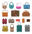 Bags colored icons set vector image vector image
