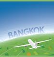 bangkok flight destination vector image vector image