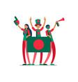 bangladeshi flag bangladesh people vector image vector image