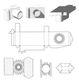 Camera paper Paper Cuttings camera for your vector image vector image