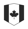 canada day canadian flag maple leaf shield emblem vector image
