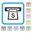 cash machine framed icon vector image