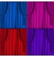 Colored Curtains Background vector image vector image