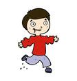 comic cartoon excited boy vector image vector image