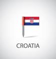 croatia flag pin vector image vector image