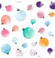 cutewatercolor christmas balls seamless pattern vector image vector image