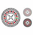 digital casino roulette mosaic icon inequal vector image vector image
