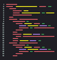 digital java code text computer software coding vector image vector image
