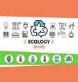 ecology and energy safety concept vector image vector image