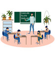 education programmers computer science lesson vector image