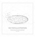 ellipse shape digitally drawn low poly wire frame vector image vector image