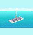 falcon rocket sailing platform vector image vector image