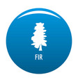 fir tree icon blue vector image vector image