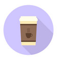 flat coffee cup vector image vector image