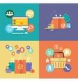 flat design digital marketing concept card vector image vector image