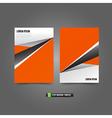 Flyer Brochure background templated 019 orange vector image vector image