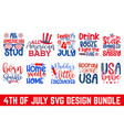 fourth july calligraphy graphic design svg bund vector image vector image