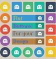 Ghost icon sign Set of twenty colored flat round vector image vector image