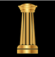 Gold column Ancient Greek vector image vector image