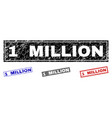 grunge 1 million scratched rectangle stamps vector image vector image