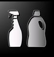 household chemical bottles sign gray 3d vector image vector image
