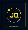 initial letter jq logo template design vector image vector image