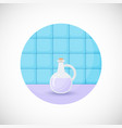 lavender oil flat icon vector image vector image