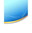 Modern folder blue background concept vector image